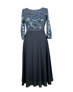 Kleid, 3/4, night blue/royal