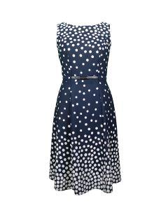 Kleid, midnight blue/offwhite