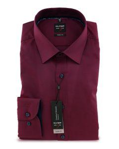 Hemd,body fit,red/navy