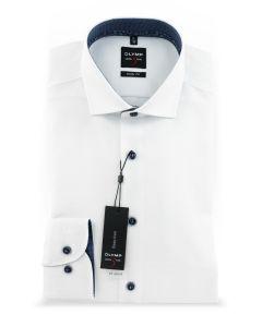 Hemd,body fit,white/blue