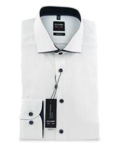 Hemd,body fit,white/navy