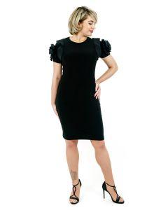 Kleid mit Rüschen,black