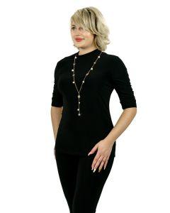 Shirt mit Kette,black