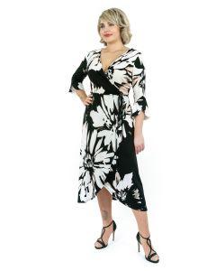 Kleid,black/white/rosé