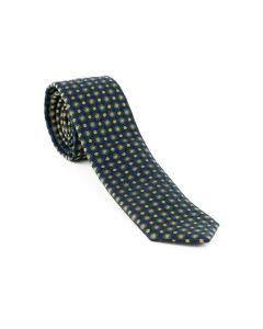 Krawatte,navy/senfgelb