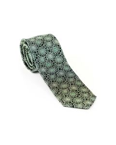 Krawatte,green/silver