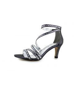 Sandalette, black glitter