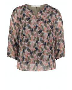 Bluse,khaki/rosé