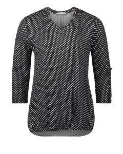Shirt, black/offwhite