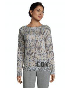 Pullover, grey/camel