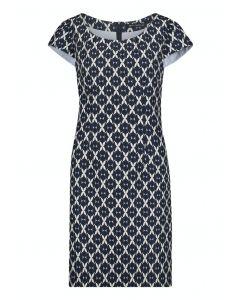 Kleid,dark blue/white