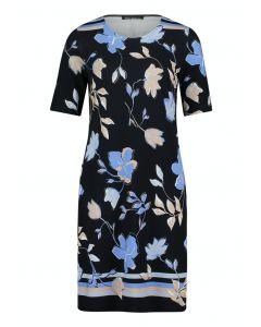 Kleid,dark blue/beige
