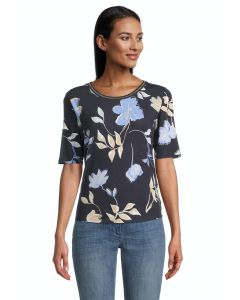 Shirt,dark blue/beige