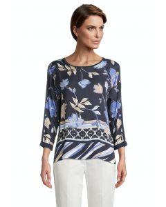 Blusenshirt,dark blue/beige