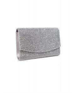 Tasche,silver/glitter