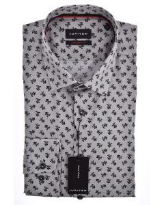 Hemd,modern fit,grey/black/print