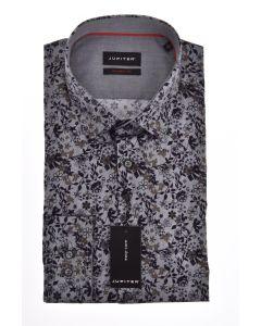 Hemd,modern fit,grey/navy/print
