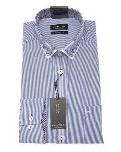 Hemd,modern fit,light blue/white