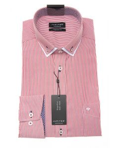 Hemd,modern fit,red/white