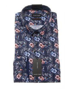 Hemd,modern fit,navy/print