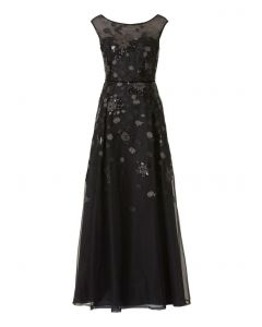 Abendkleid, black/silver