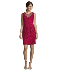 Spitzenkleid, red berry