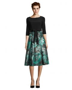 Festkleid, black/smaragd