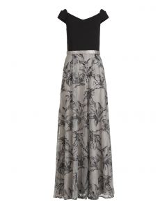 Abendkleid, patch black/grey