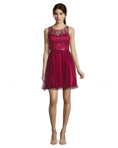 Festkleid, light cranberry