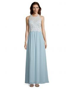Abendkleid, mint/white